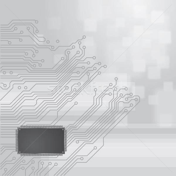 商业照片: 电路板 · 向量 · 灰色 ·光· 设计 · 科学