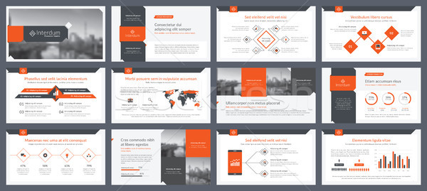 Elements of infographics for presentations templates Stock photo © cifotart