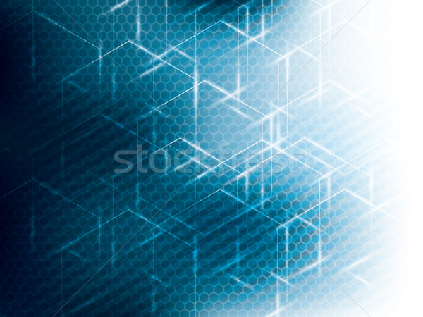 шестиугольник аннотация науки технологий синий вектора Сток-фото © cifotart