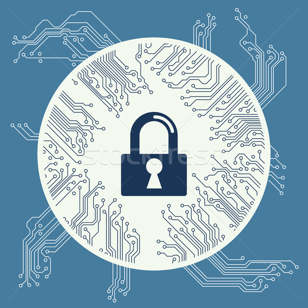 Cyber security design vector Stock photo © cifotart