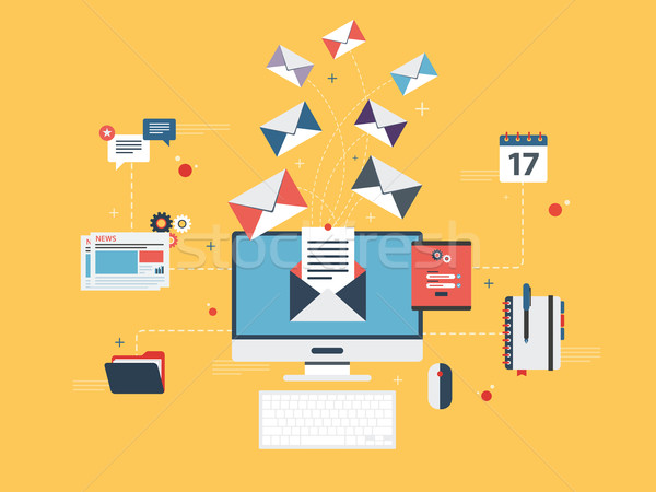 Envoyer courriel marketing affaires communication Photo stock © cifotart