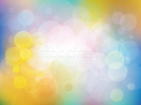 Colorido frescos colores vector formas sol Foto stock © cifotart