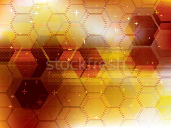 Technológia narancs futurisztikus absztrakt digitális vektor Stock fotó © cifotart