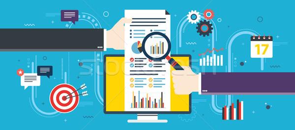 Terv pénzügyi beruházás analitika növekedés jelentés Stock fotó © cifotart