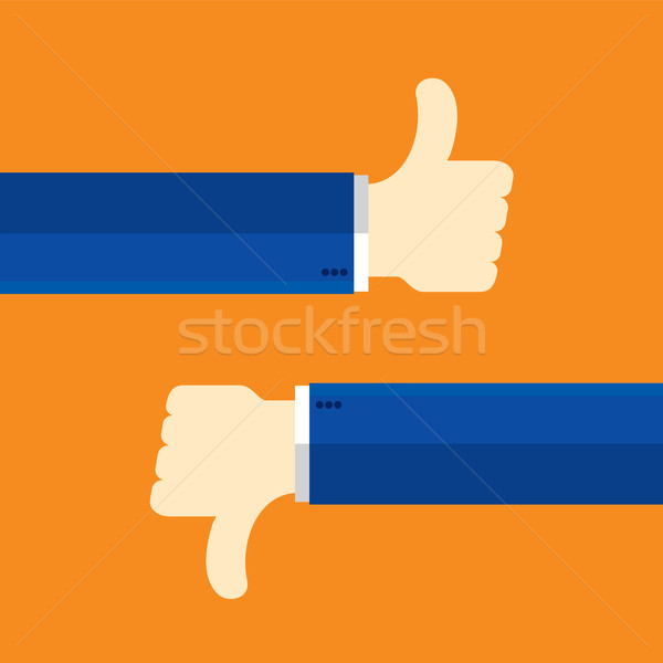 Thumbs up and thumbs down Stock photo © cifotart