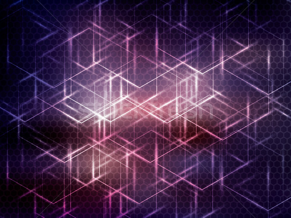 Hexagon abstract science technology purple background. Stock photo © cifotart