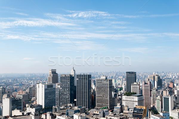 Légifelvétel épületek völgy zárt város Sao Paulo Stock fotó © cifotart