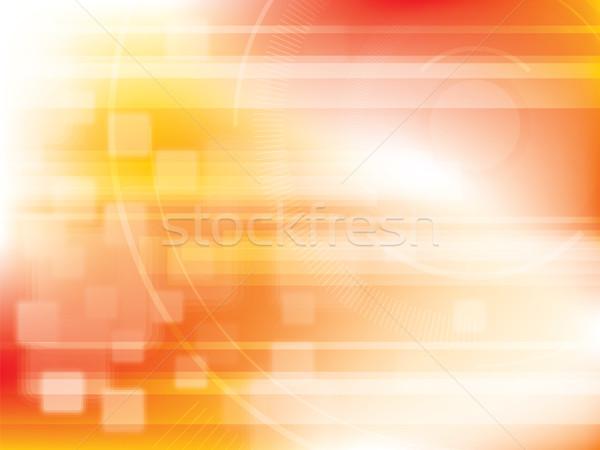 Technologii pomarańczowy futurystyczny streszczenie jasne światła Zdjęcia stock © cifotart