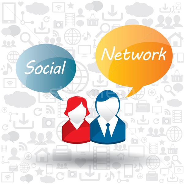 Multimedia internet netwerk communicatie informatie Stockfoto © cifotart