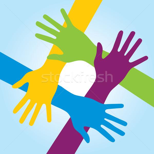 Human arms around colorful and next. Stock photo © cifotart