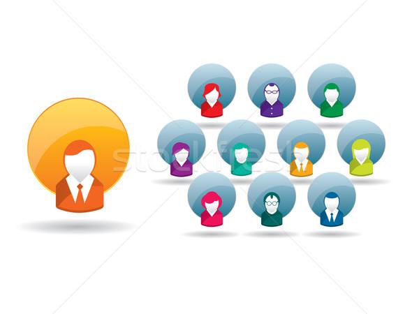 Zakenman leiderschap business communicatie relatie internet Stockfoto © cifotart