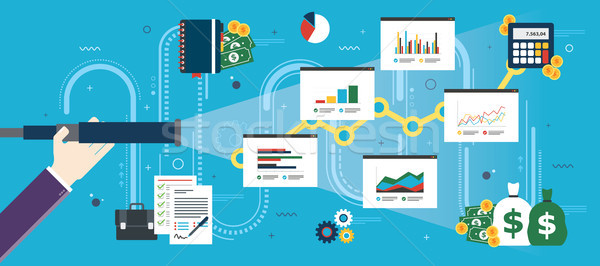 Business prediction and vision concept. Stock photo © cifotart
