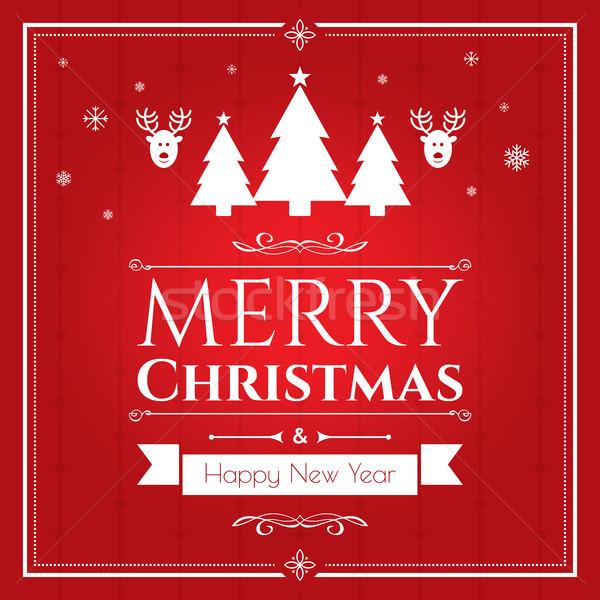 Establecer Navidad iconos rojo Internet banner Foto stock © cifotart