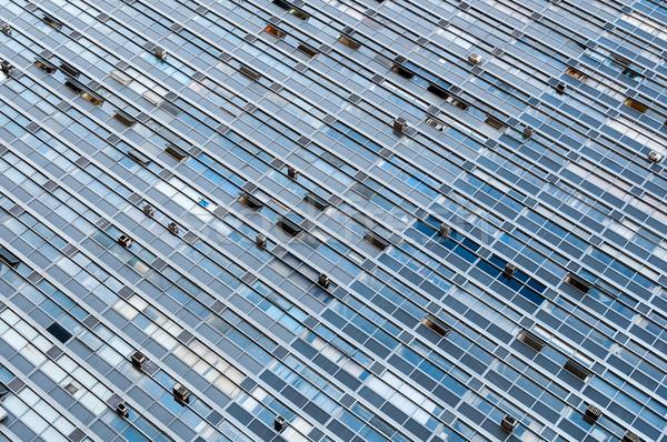 Ablak épület Sao Paulo Brazília részlet ablakok Stock fotó © cifotart