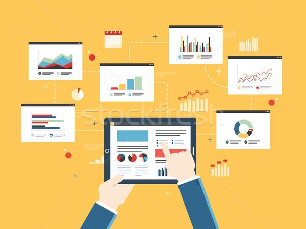 Finansów inwestycja planowania analityka wykres komórkowych Zdjęcia stock © cifotart