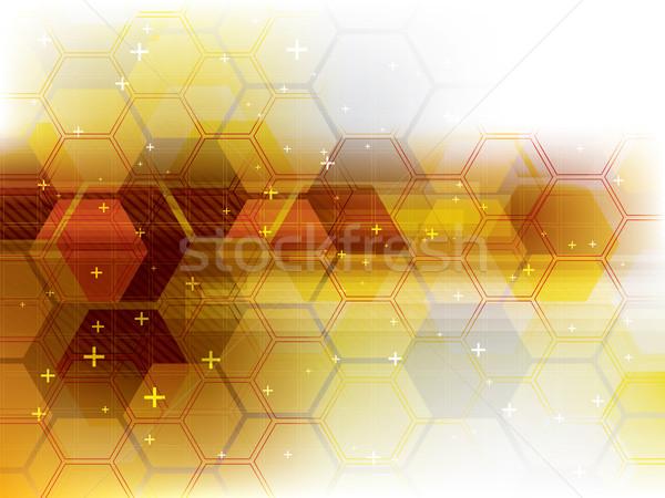 Technologii żółty futurystyczny streszczenie cyfrowe wektora Zdjęcia stock © cifotart