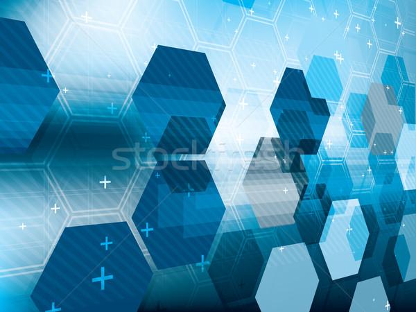 технологий синий футуристический аннотация ярко цифровой Сток-фото © cifotart