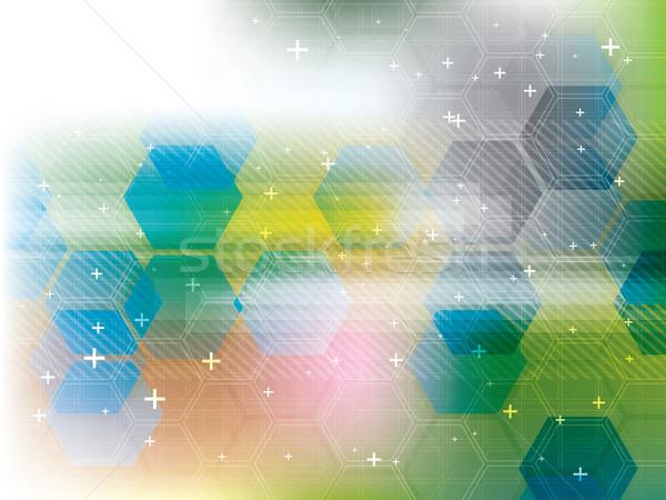 Technologii niebieski futurystyczny streszczenie cyfrowe wektora Zdjęcia stock © cifotart