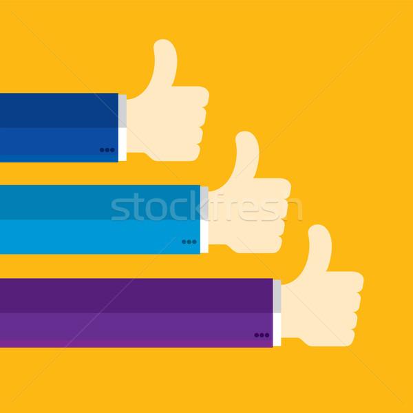 большой палец руки вверх подобно обратная связь бизнеса знак Сток-фото © cifotart