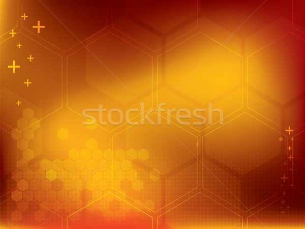 Resumen amarillo tecnología negocios luz marco Foto stock © cifotart