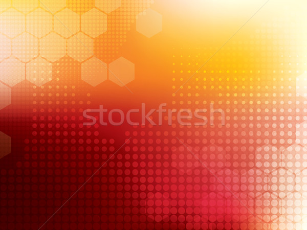 Сток-фото: аннотация · технологий · красный · желтый · компьютер · дизайна