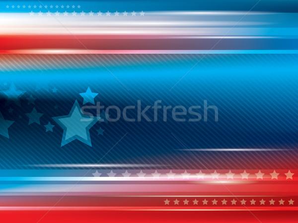 аннотация ярко звезды синий красный флаг Сток-фото © cifotart