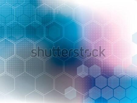 Streszczenie niebieski komputera technologii sztuki cyfrowe Zdjęcia stock © cifotart