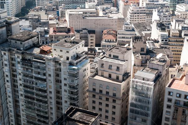 Légifelvétel épületek város Sao Paulo környék köztársaság Stock fotó © cifotart