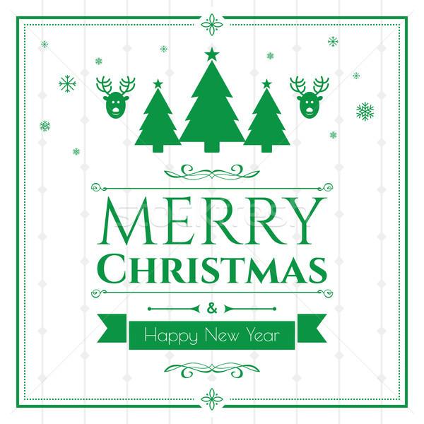 Establecer Navidad iconos verde Internet banner Foto stock © cifotart