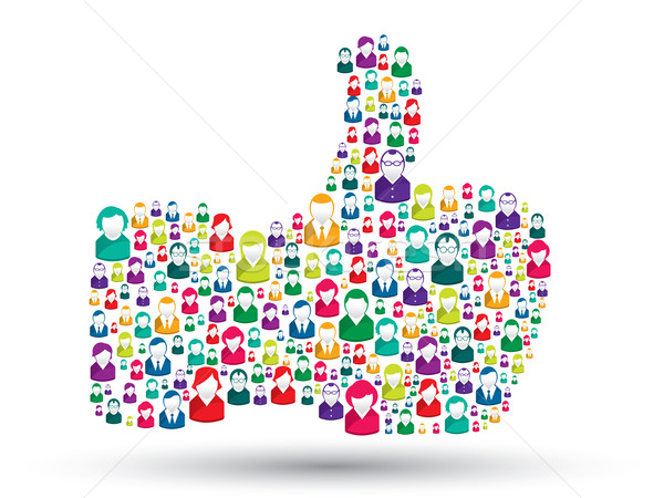 Stock photo: hand icons of people - like