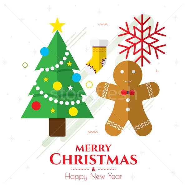 Рождества иконки интернет баннер украшения украшение Сток-фото © cifotart