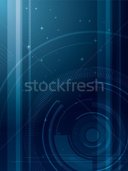 Resumen azul técnica diseno arte wallpaper Foto stock © cifotart