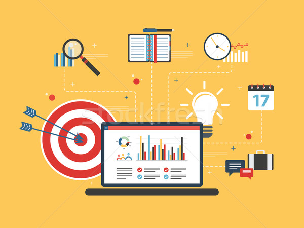 Laptop działalności danych wykres finansów ekranu Zdjęcia stock © cifotart
