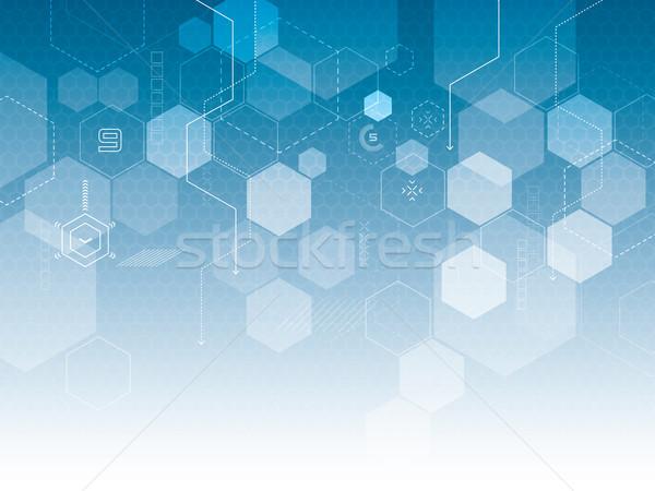 Streszczenie technologii świetle internetowych nauki przyszłości Zdjęcia stock © cifotart