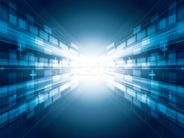Streszczenie faktyczny technologii Internetu świetle projektu Zdjęcia stock © cifotart