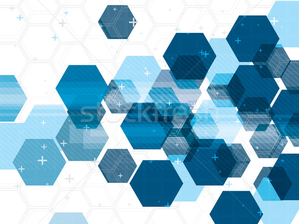 Tecnología azul futurista resumen digital vector Foto stock © cifotart