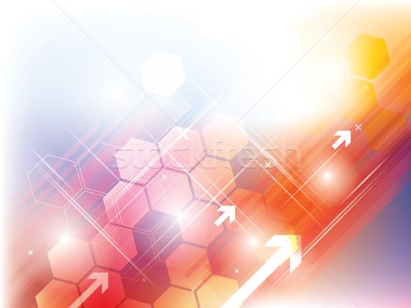 аннотация технологий оранжевый желтый вектора свет Сток-фото © cifotart