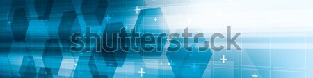 抽象的な 青 未来的な 技術 デジタル ベクトル ストックフォト © cifotart