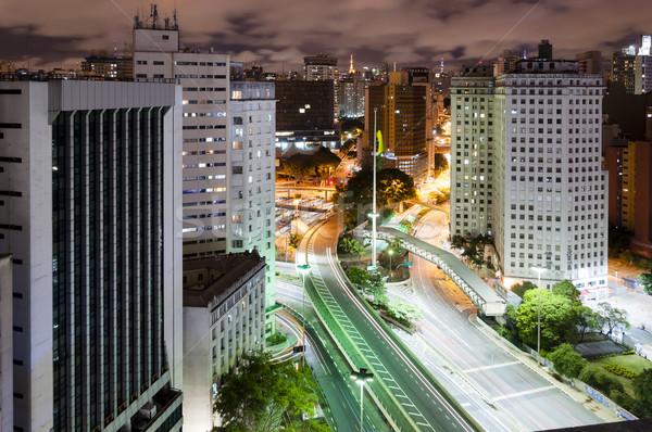 Сан-Паулу город Бразилия ночь мнение автобус Сток-фото © cifotart