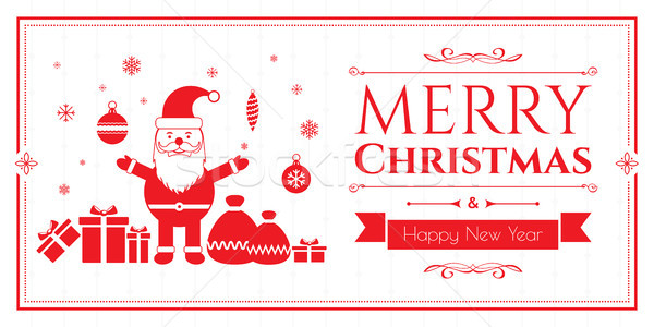 Zestaw christmas ikona biały Internetu banner Zdjęcia stock © cifotart