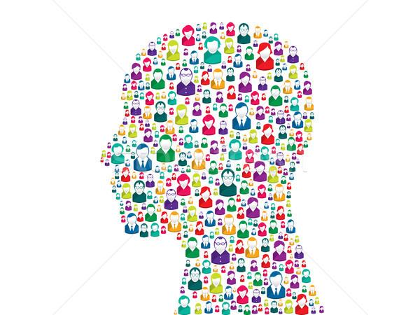 思考 人間 頭 グループの人々  ビジネス ストックフォト © cifotart