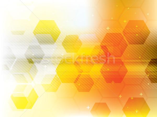 технологий желтый футуристический аннотация цифровой вектора Сток-фото © cifotart