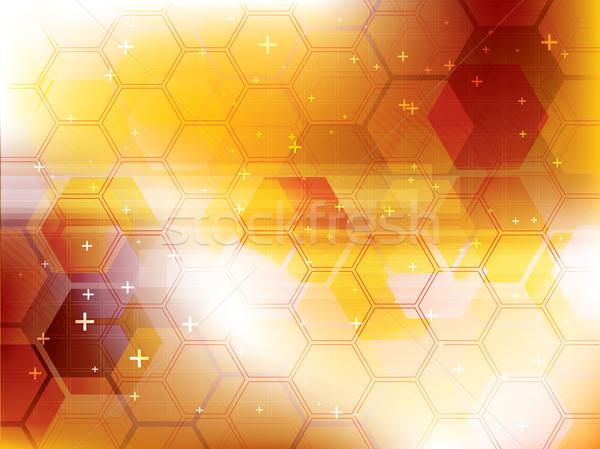 Tecnología amarillo futurista resumen digital vector Foto stock © cifotart