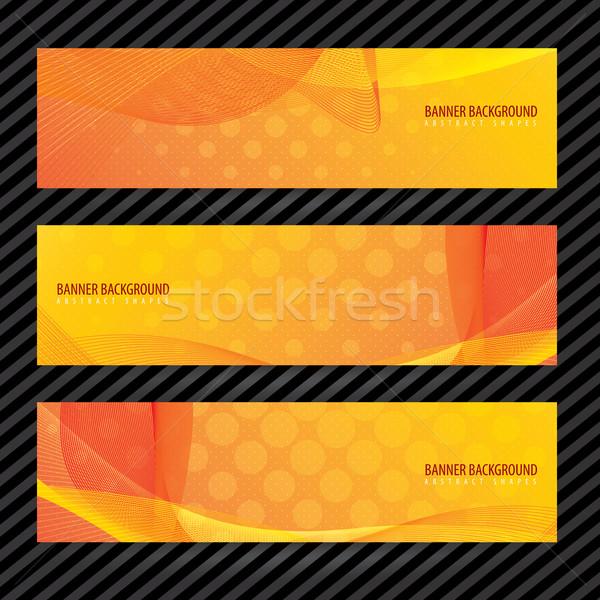 баннер вектора оранжевый волнистый линия дизайна Сток-фото © cifotart