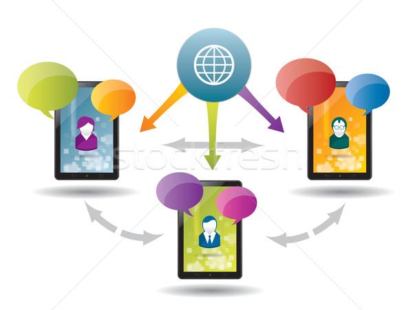 Negocios comunicación Internet red hablar servicio Foto stock © cifotart