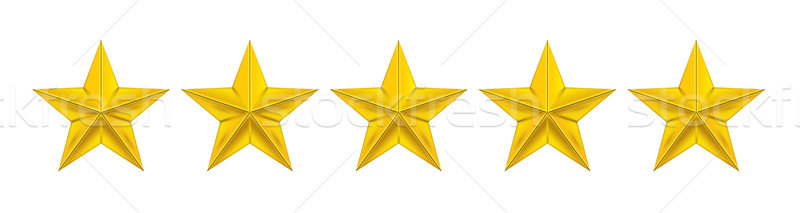 Stock photo: Star review or rating