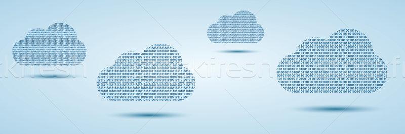 двоичный код синий технологий сервер фон Сток-фото © cifotart