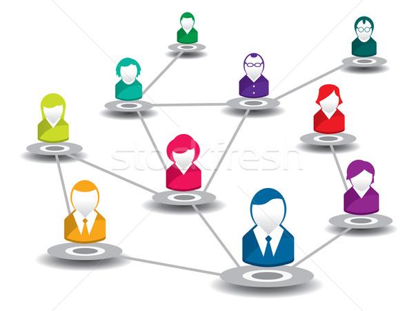 people in social network Stock photo © cifotart