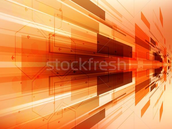 Streszczenie technologii wektora działalności Internetu projektu Zdjęcia stock © cifotart