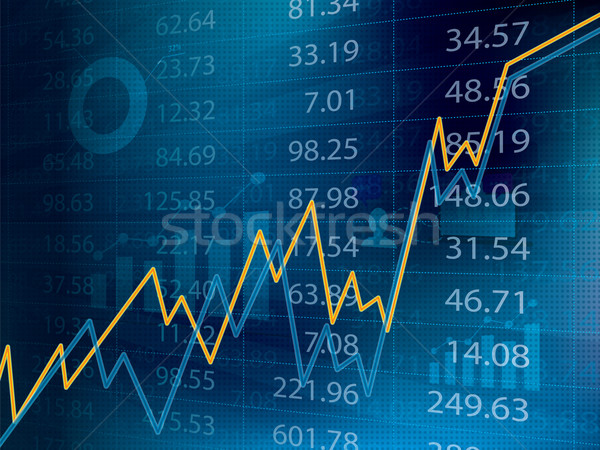 Business graph with arrow showing profits and gains on the stock exchange Stock photo © cifotart